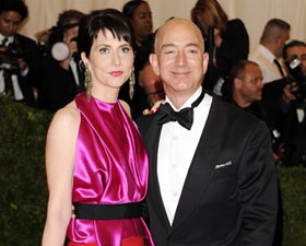 Amazon founder, president and CEO Jeff Bezos and wife Mackenzie Bezos (AP Photo)