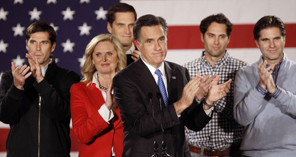 Romney and Family, RNC (AP Photo)