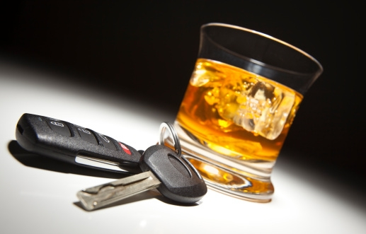 Drinking and Driving (Stock photo)