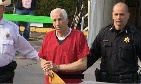 Sandusky leaves court (CNN Photo)