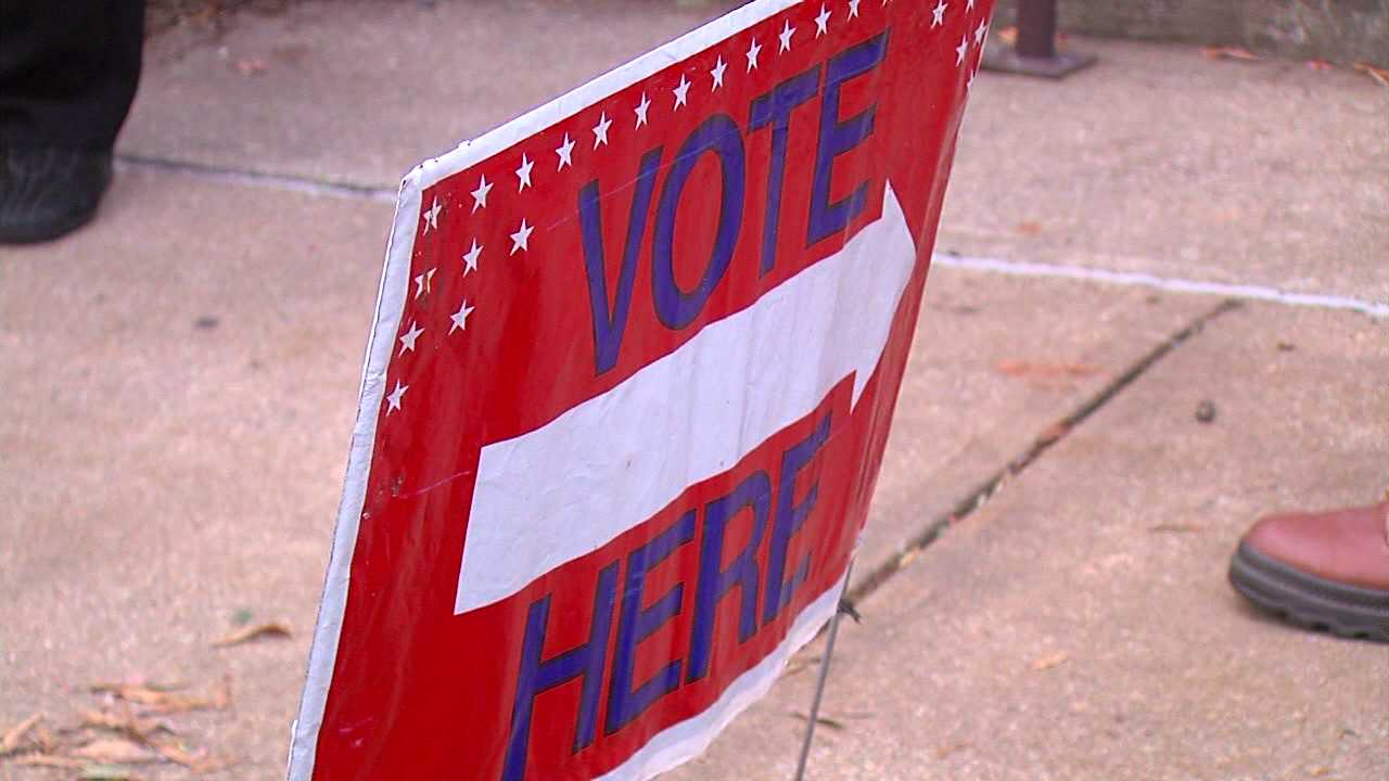 Vote Here sign (WGHP)