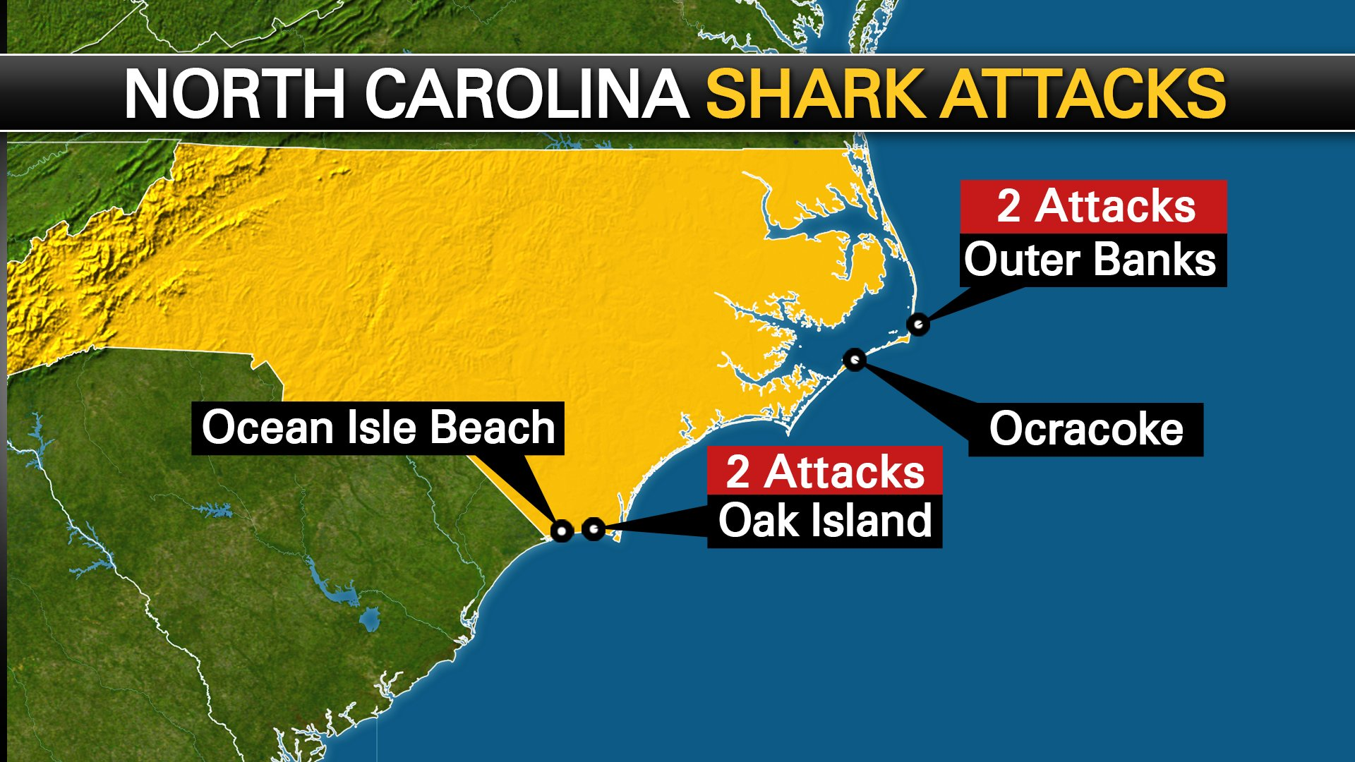 Interactive Map Shows Location Of Shark Attacks Along The Carolina Coast Myfox8 Com