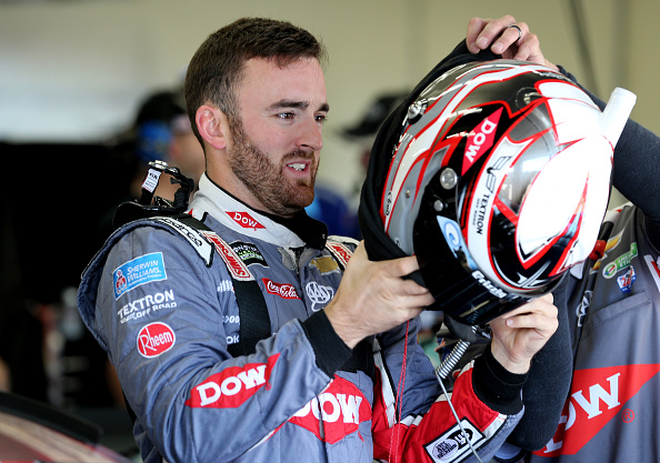 CHARLOTTE, NC - MAY 27: Austin Dillon, driver of the #3 DOW Salutes Veterans Chevrolet, gets into his car during practice for the Monster Energy NASCAR Series Coca-Cola 600 at Charlotte Motor Speedway on May 27, 2017 in Charlotte, North Carolina. (Photo by Jerry Markland/Getty Images)