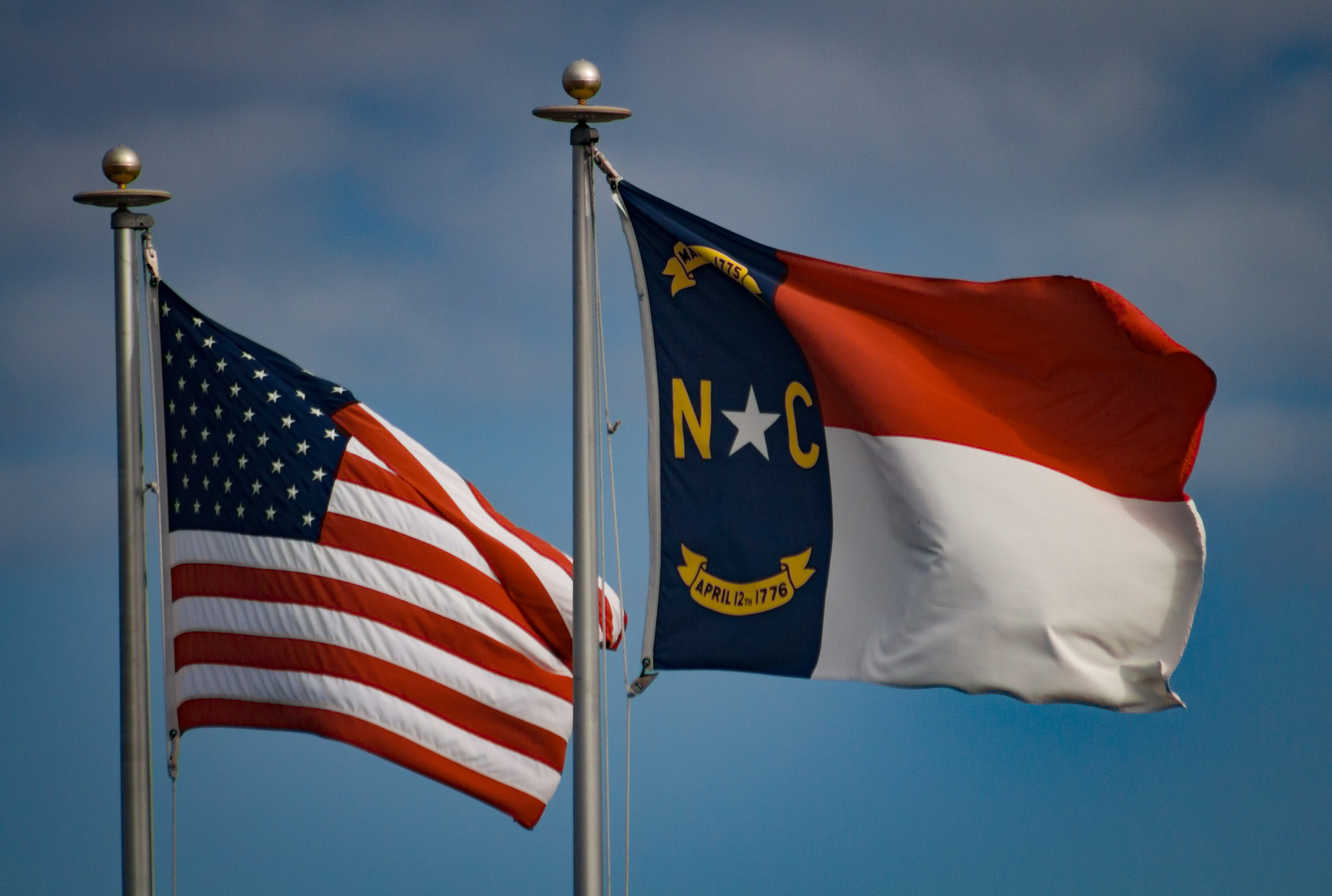 North Carolina and American flags (Getty Images)