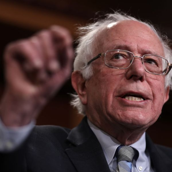 Sen. Bernie Sanders (I-VT) speaks during a press conference at the U.S. Capitol January 30, 2019 in Washington, DC. (Photo by Win McNamee/Getty Images)
