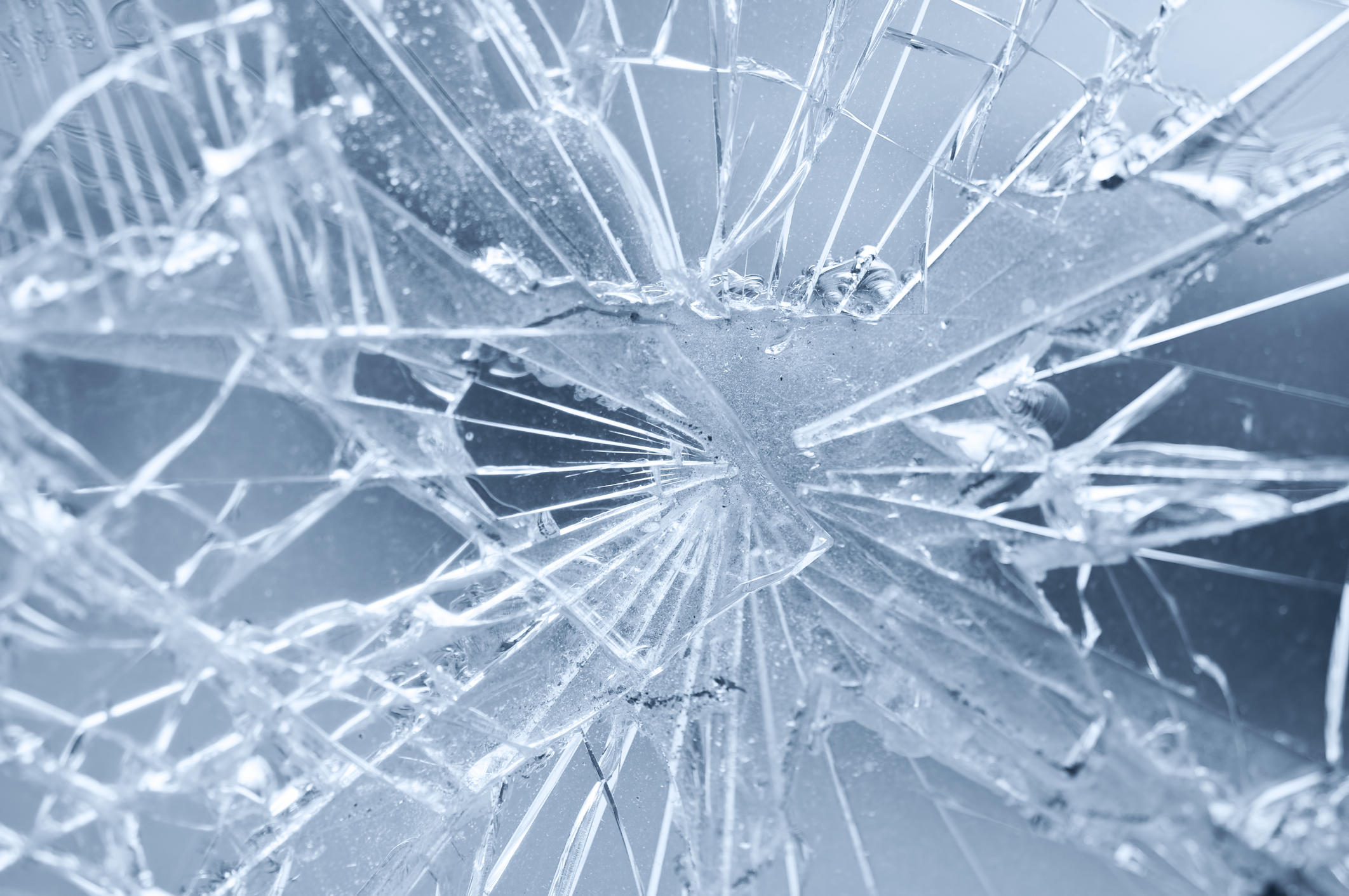 Stock image of broken glass. (Getty Images)