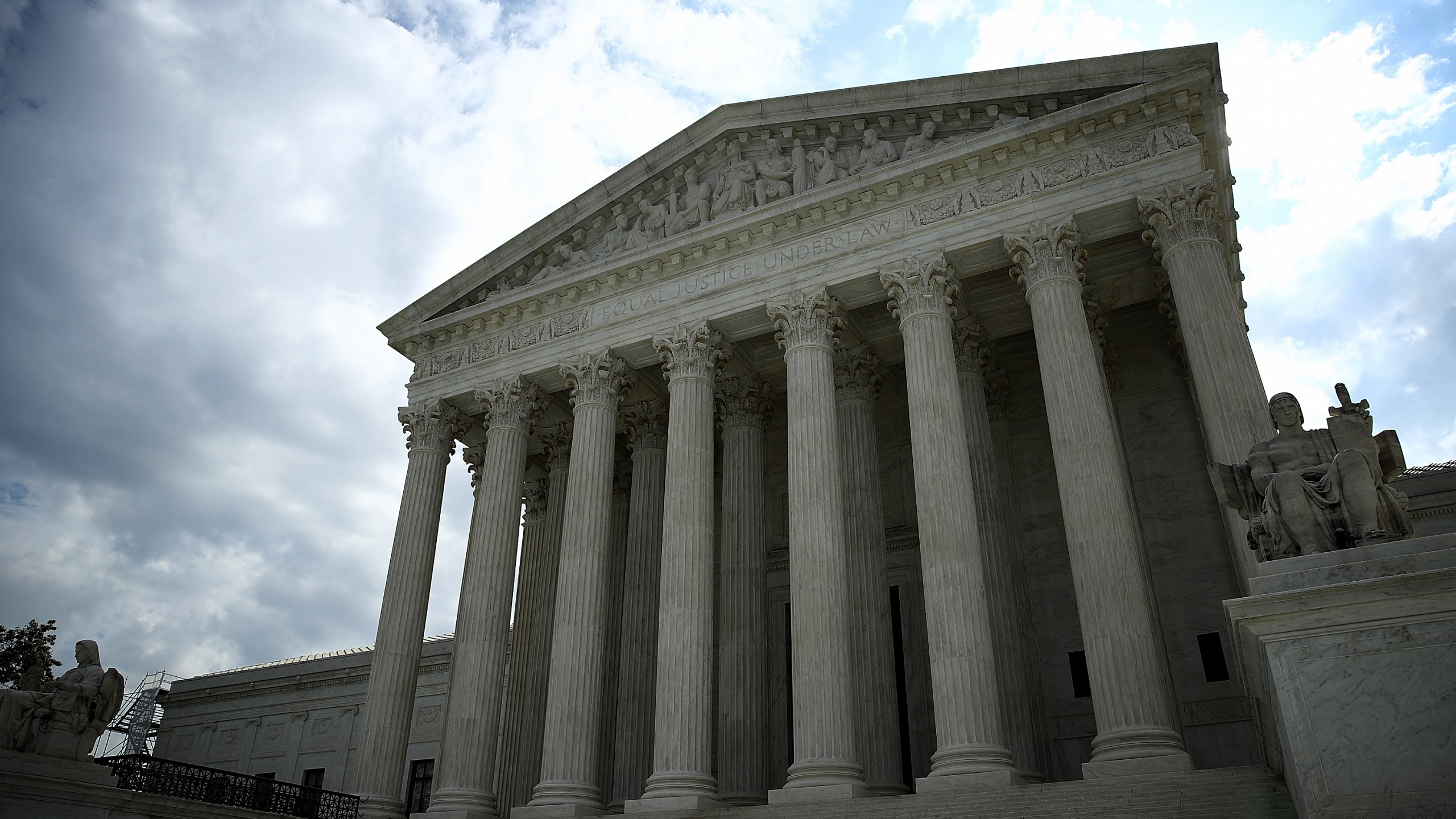 WASHINGTON, DC - MAY 23: The U.S. Supreme Court is shown as the court meets to issue decisions May 23, 2016 in Washington, DC. (Photo by Win McNamee/Getty Images)