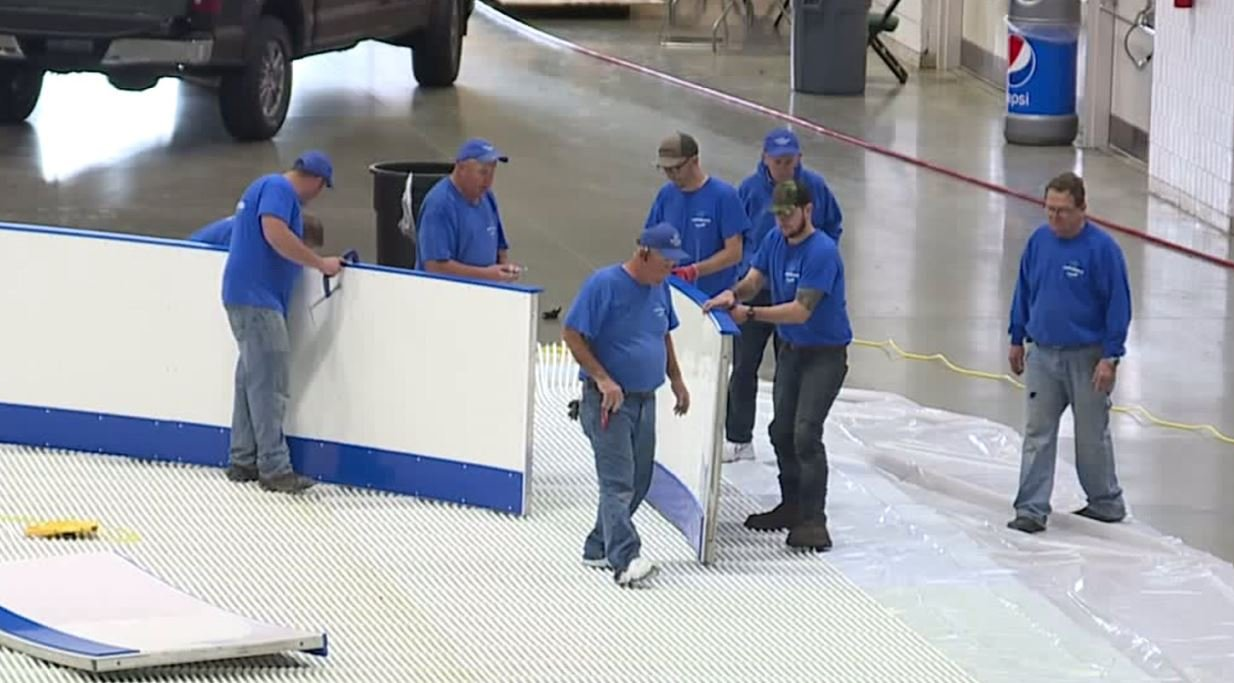 Greensboro Coliseum gets practice ice ready for U.S. Figure Skating Championships