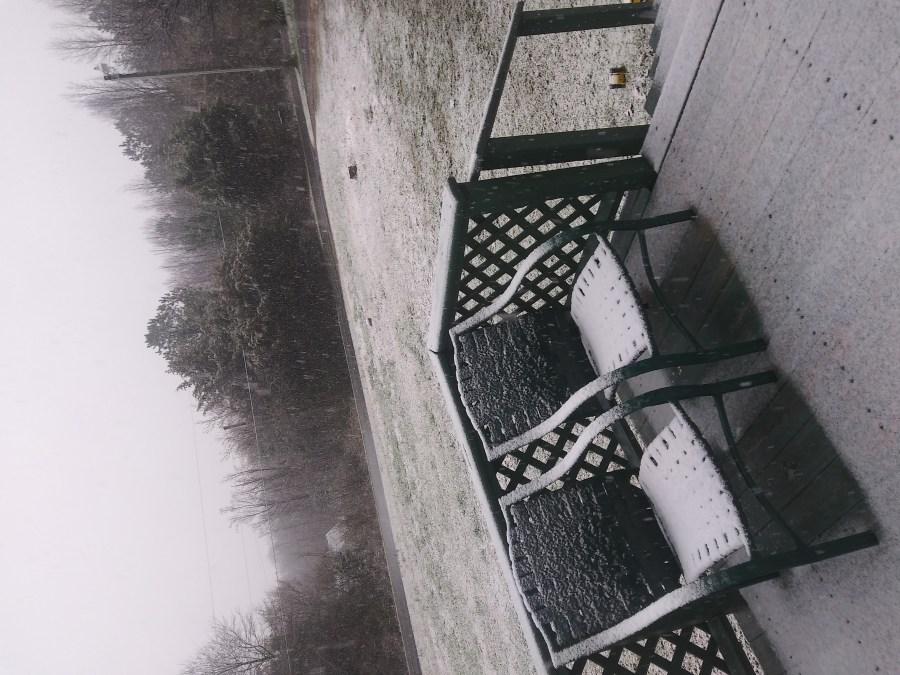 It's snowing in Ramseur