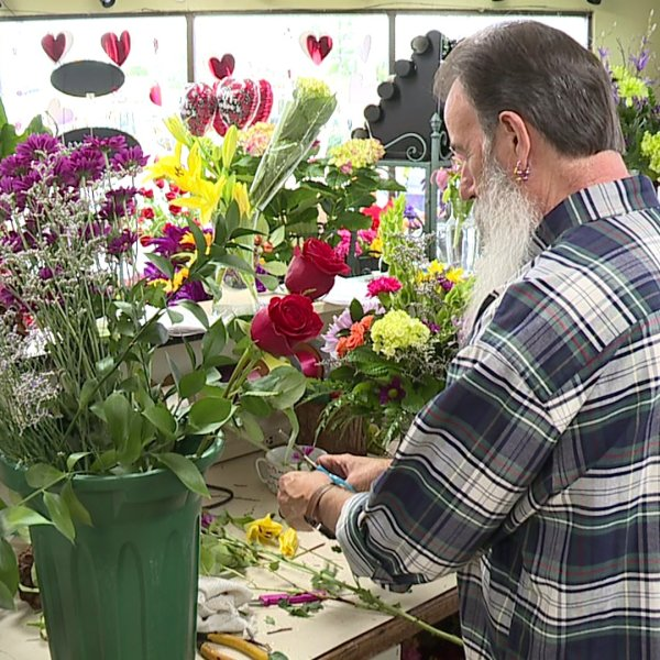 Valentine`s Day rush for local florists