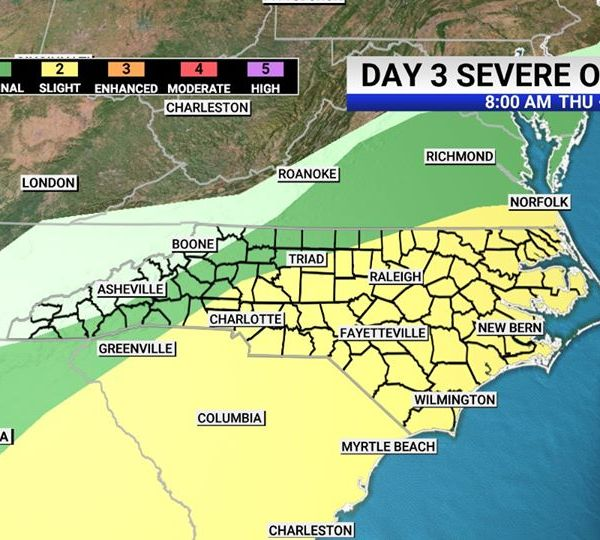 Severe weather threat on Thursday, Thursday night