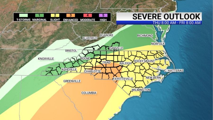 Severe outlook map