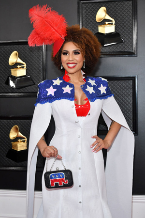 Joy Villa attends the 62nd Annual GRAMMY Awards at Staples Center on January 26, 2020 in Los Angeles, California. (Photo by Amy Sussman/Getty Images)