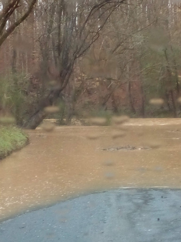 Uwharrie River over the Low Water Bridge behind the old Uwharrie Golf Course. (Monte Pope)