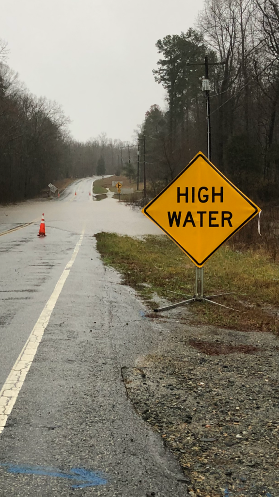 Flooding in Davidson County near Silver Valley Elementary on Old Hwy 109. (Wayne HcHone)