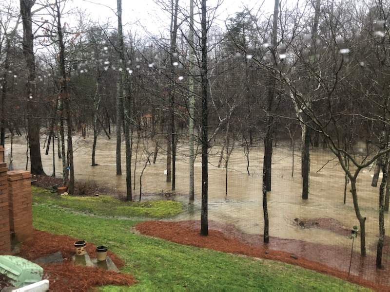 Flooding in the Jamestown area (Submitted)