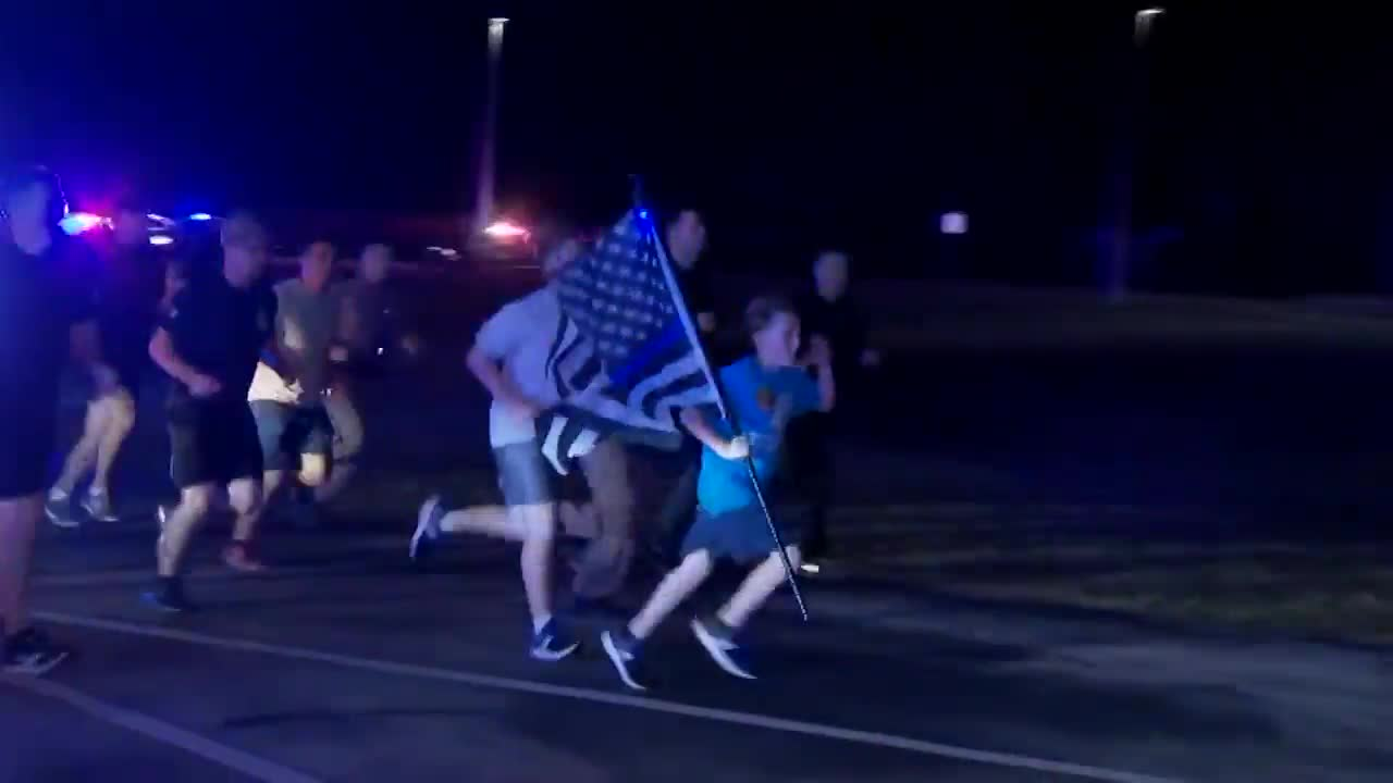 11-year-old hosts tribute run for fallen trooper