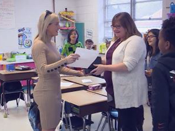 Donna Lee Loflin Elementary School's Meghan Joyce is our Educator of the Week.