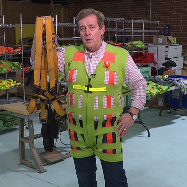 London Garment Manufacturing's harness is sewn to save lives and made in Stoneville.