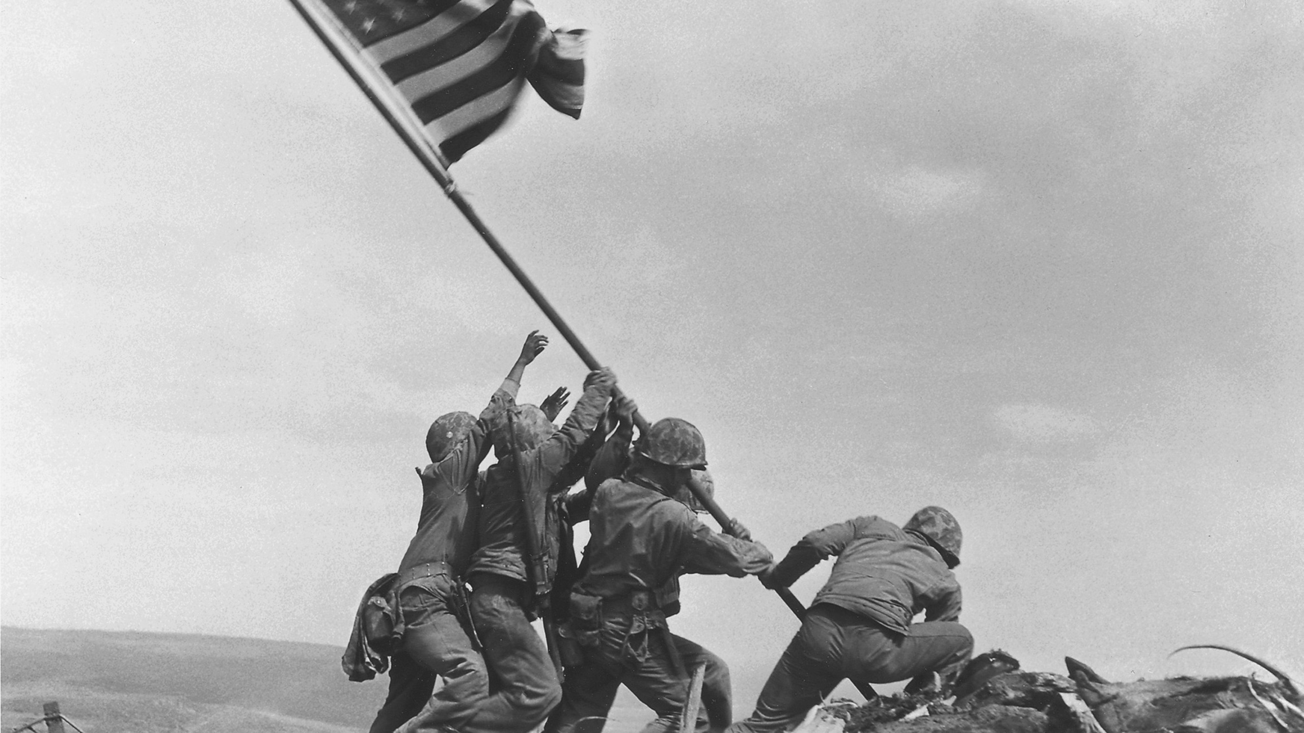 75 years ago today, US Marines raised the American flag over Iwo Jima