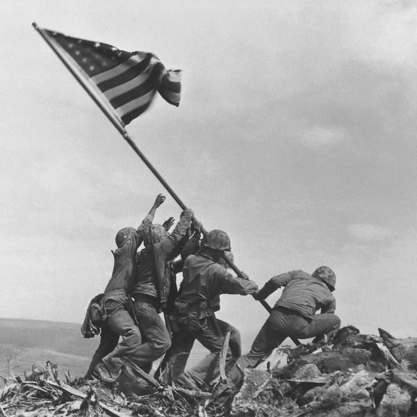 75 years ago today, US Marines raised the American flag over Iwo Jima
