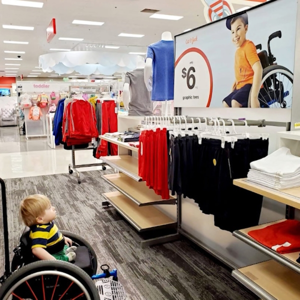 Mom shares photo of toddler captivated by Target ad with 'kid like him'