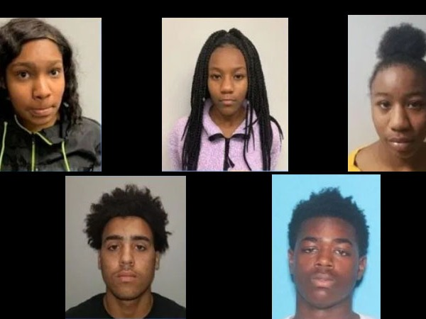 Top to bottom: Jasmine Kelley (15), Willow Blackmon (15), Yakeshia Blackmon (17), Jarvis Cook (17) and Jaquez Porter (17)