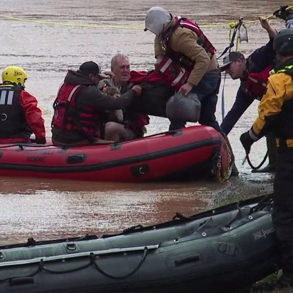 8 campers, 3 dogs surrounded by rising water at Dan River rescued