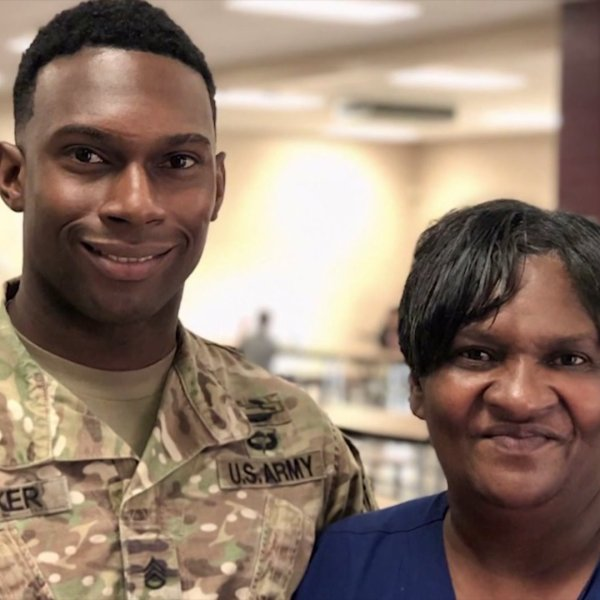 Fort Bragg soldier surprises mom at school