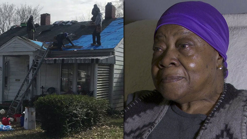 Greensboro woman living without heat gets new roof, furnace