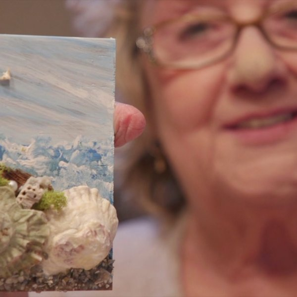 Winston-Salem woman makes art out of seashells