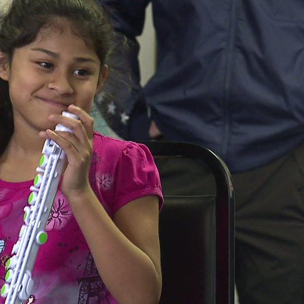 Music program helps young students pick up their first instruments