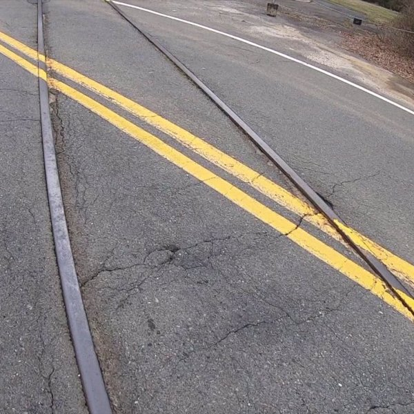 Abandoned tracks in Winston-salem create hazard for drivers, cyclists