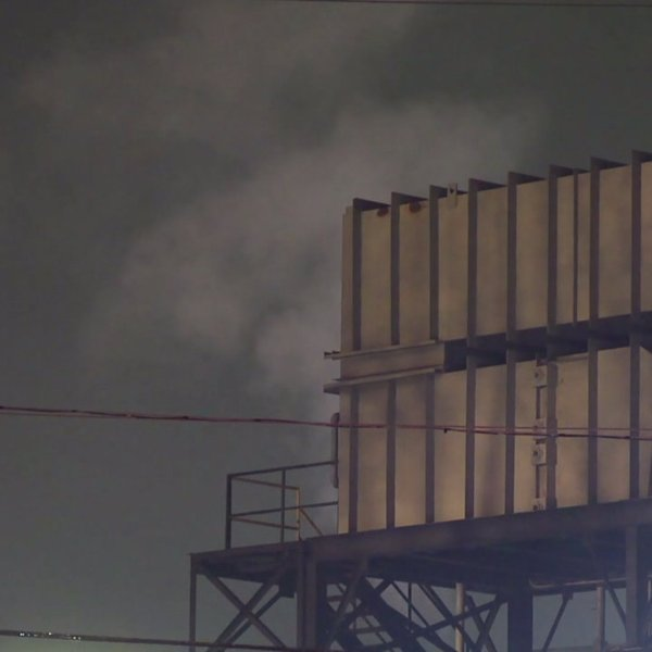 Heavy smoke rose from TexTech in Kernersville as crews faced a fire overnight.