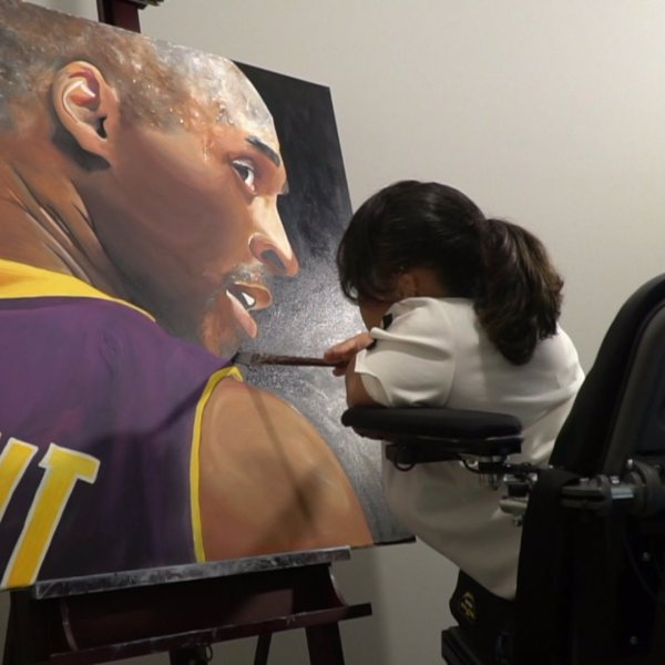 Local artist talks about tribute to Kobe Bryant