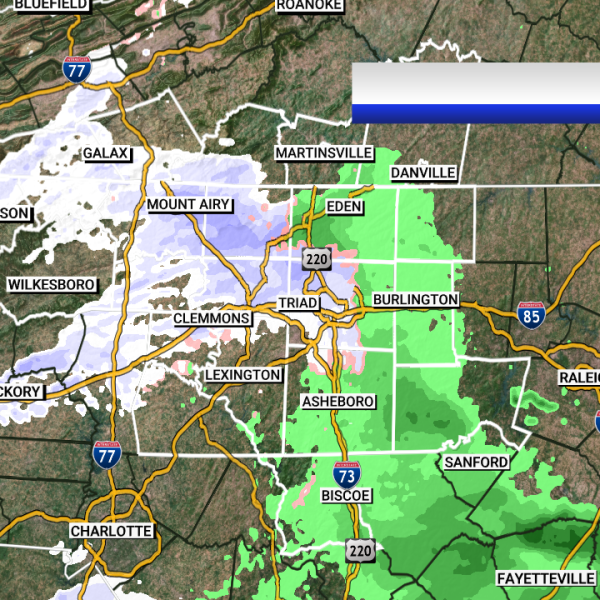 Snow flurries spotted across the Piedmont Triad.