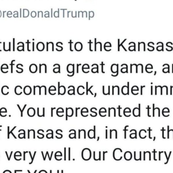 Trump fumbles tweet congratulating the Chiefs