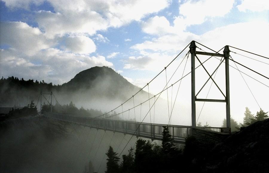 Mile High Swinging Bridge. Photo courtesy of the Grandfather Mountain Stewardship Foundation