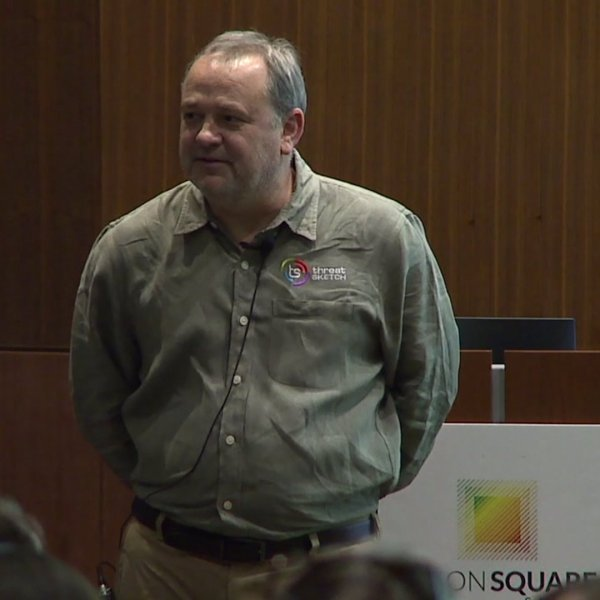 Ron Arnold, CEO of Threat Sketch, won the six-minute pitch competition in Greensboro and walked away with the $7,500 prize.