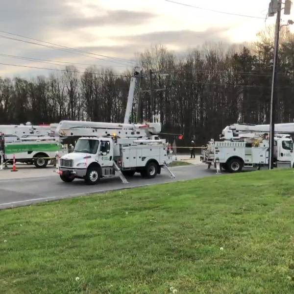 A crash knocked out power for more than 1,700 people in Thomasville.