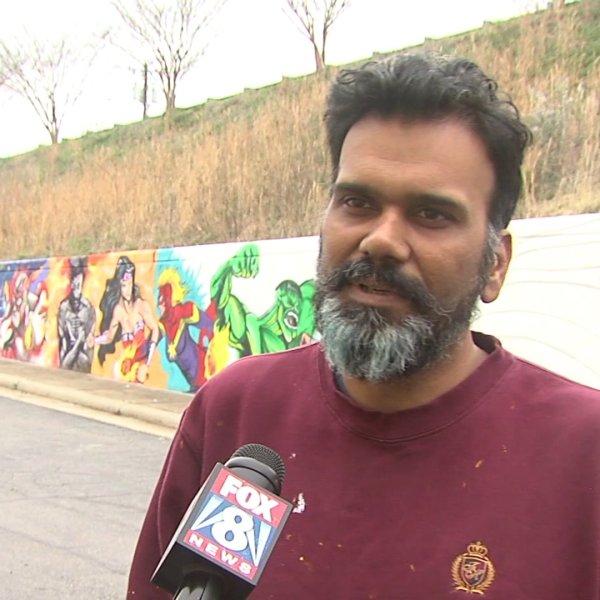 ArtsGreensboro launches relief fund to help artists, like muralist Raman Bhardwaj, amid coronavirus crisis.