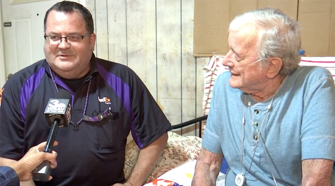 Marine veteran and longtime Savannah resident Emmett Walker says that when FedEx delivers, they go above and beyond.