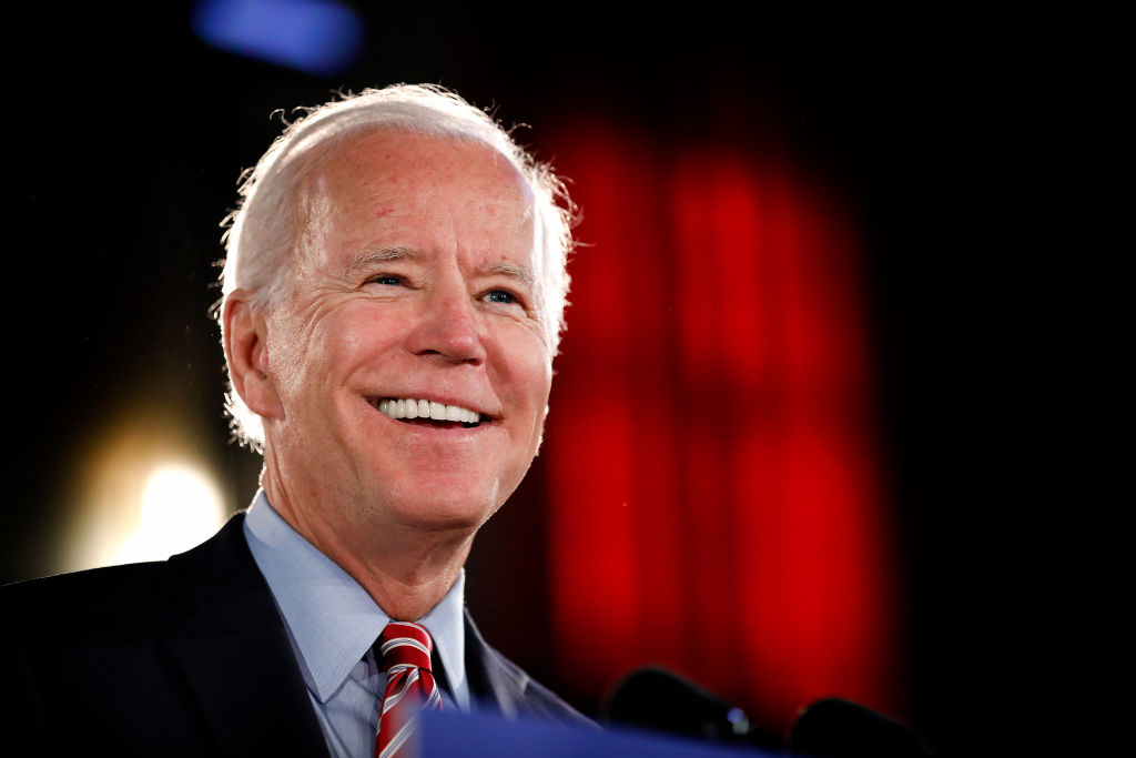 Democratic Presidential candidate Joe Biden lays out his economic policy plan to help rebuild the middle class during a campaign stop at the Scranton Cultural Center on October 23, 2019 in Scranton, Pennsylvania. Biden has been a frontrunner for the candidacy but Elizabeth Warren has been gaining in recent polls. (Photo by Rick Loomis/Getty Images)