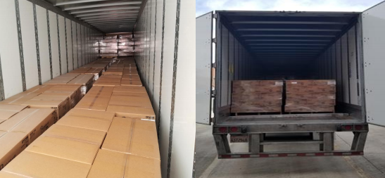 Stolen trailer filled with 18,000 pounds of toilet paper found in Guilford County, deputies say. (Guilford County Sheriff's Office)