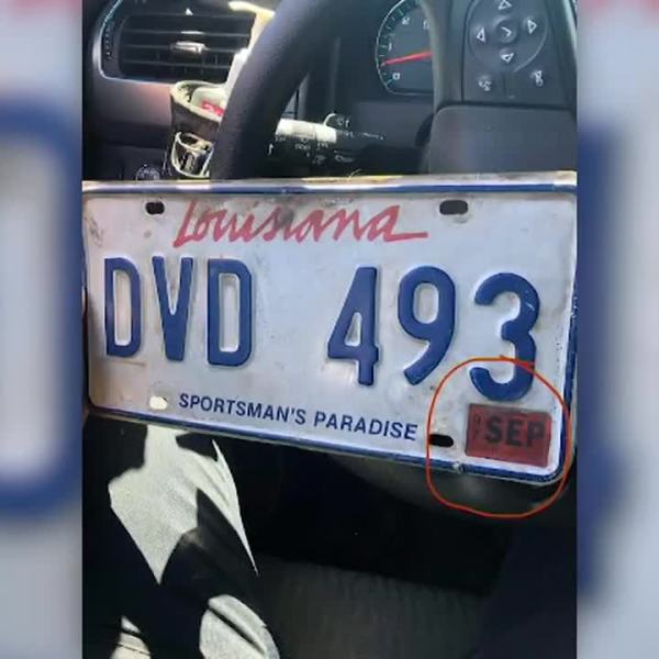 Driver pulled over with expired 1997 license plate tags says he's been busy