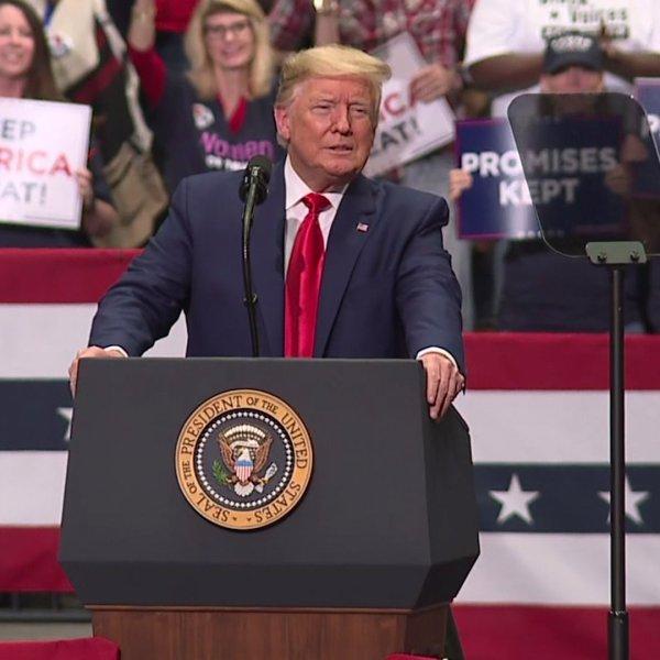 President Donald Trump campaigns in Charlotte