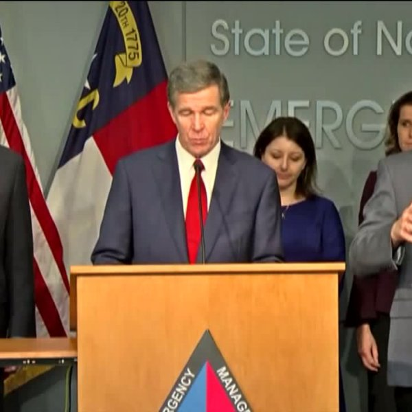 Governor Roy Cooper speaks about Coronavirus in NC