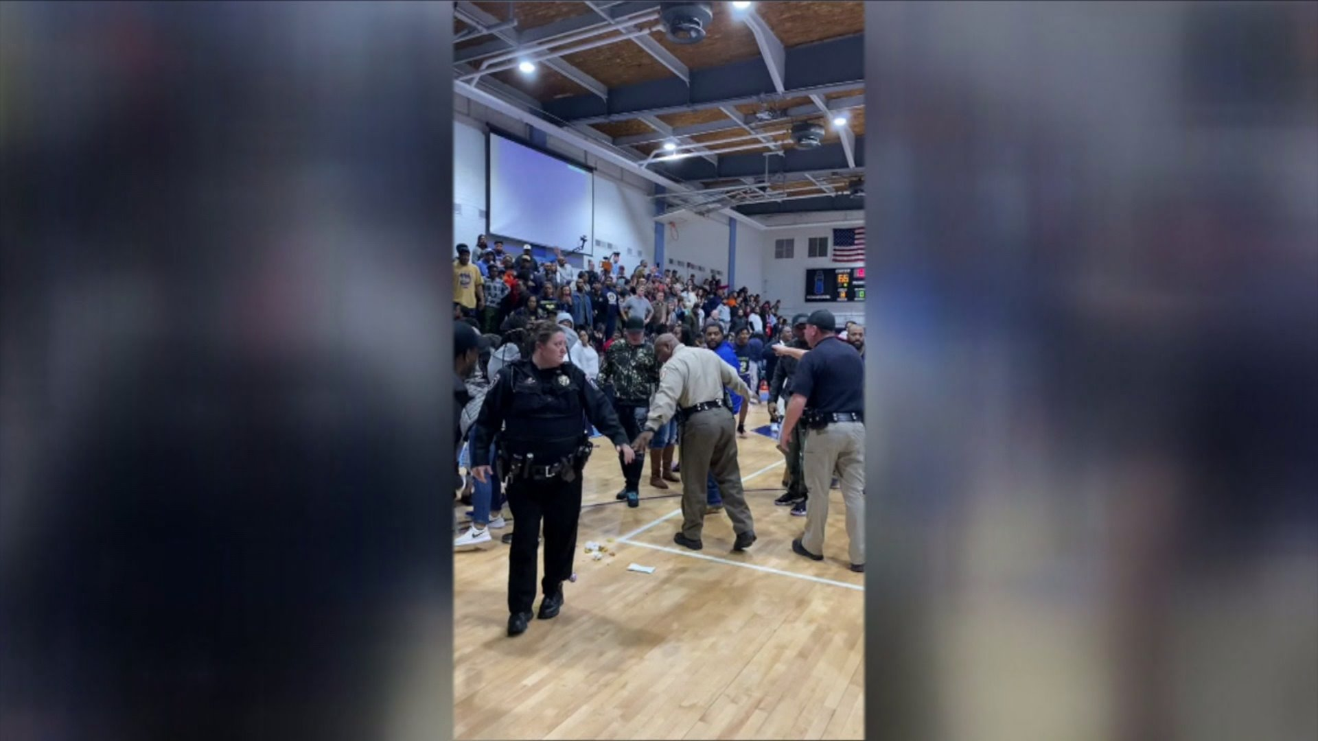 Police were called to a high school after a fight broke out during a basketball game between Reidsville and South Granville high schools.