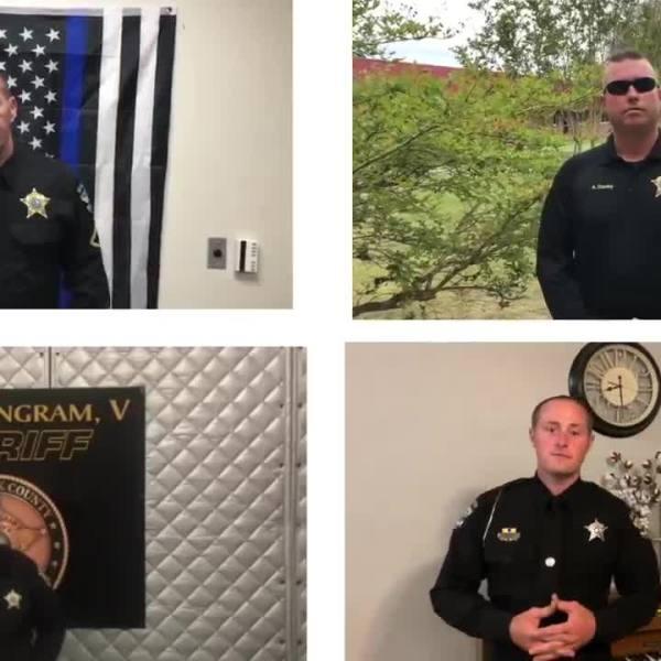 Brunswick County deputies sing together as a 'virtual quartet.'