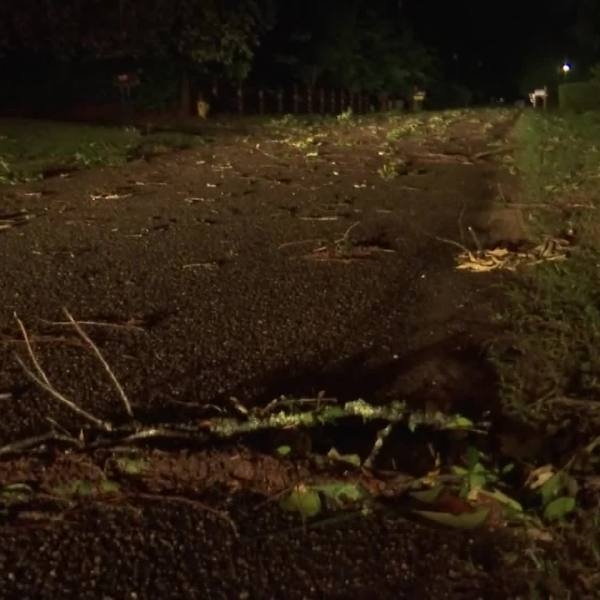 Severe thunderstorms pounded parts of the Deep South with hail, high winds and drenching rains on Sunday as forecasters warned residents to brace for possible overnight tornadoes and flooding across a region reeling from a deadly twister outbreak one week ago.